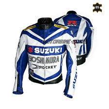 Racing jacket gsx r style leather jacket with internal ce armors any color size