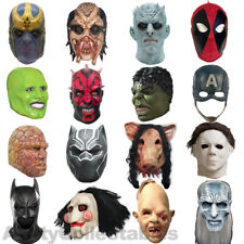 LATEX MOVIE MASK Full Head Cosplay Horror Fancy Dress Halloween Party [CHOOSE]