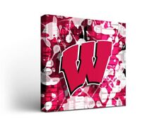 Wisconsin Badgers Canvas Wall Art Fight Song Design