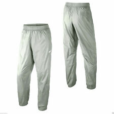 Nike Swoosh Men's Grey Cuffed Bottoms Pant Joggers 100% Polyester