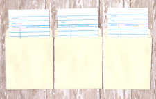 20 Library Pockets and Loan Cards, Wedding Escort Cards/Invitations with Pockets