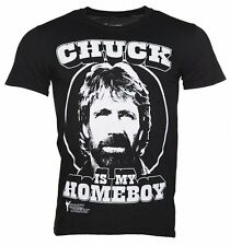 Official Men's Black Chuck Norris Is My Homeboy T-Shirt