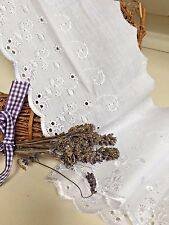 """~Bows Ribbon and Lace~ 4""""/10cm White Cotton Broderie Anglaise Lace Trimming"""
