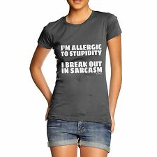 Twisted Envy I'm Allergic To Stupidity Women's Funny T-Shirt