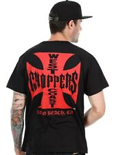 West Coast Choppers Black-Red Iron Cross T-Shirt