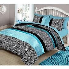 Your zone Teal Animal Bedding Comforter Set Zebra Stripes Twin Full Queen Size
