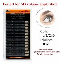 0.07/B/C/D  Mbeauty4all Russian Volume Lashes Individual Eyelash Extensions