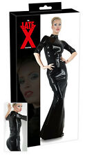 Sexy Abito lungo in lattice nero Latex Shop shop toys Fetish Uomo Donna erotic