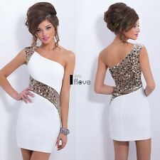 Womens Ladies Summer Sequins Bodycon Lace Evening Sexy Party Cocktail Mini Dress