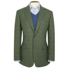 New Brook Taverner Camberley 100% Wool Check Jacket - Olive - Choose Size