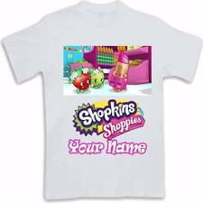 Personalised Custom Printed Shopkins Kids T Shirt Sublimated ages 3 to 13 Gift
