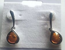 100% Natural Baltic Amber Earrings Vintage Egg Butterscotch Necklace Polish