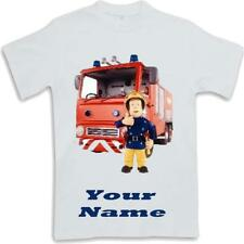 Custom printed personalised Fireman Sam Kids T Shirt Sublimated ages 3 to 13