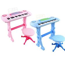 Children's Electronic Karaoke Piano Keyboard 37 Keys with Microphone And Stool