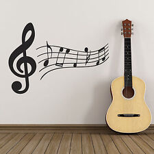 Treble Clef and Music Notes Wall Sticker - Music Wall Sticker