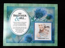 My Brother & Me Photo Mount Gift With Poem Verse Flower Family & Friends Frame