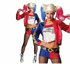 Official Ladies Suicide Squad DELUXE HARLEY QUINN Fancy Dress Costume Adult