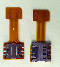 Hybrid Double Dual SIM Card Micro SD Adapter Extender (Nano or Micro SIM Use)