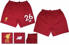 17 / 18 - NEW BALANCE ; LIVERPOOL HOME SHORTS / NUMBERED 26 = ADULTS SIZE*