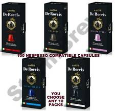 100 NESPRESSO COMPATIBLE COFFEE CAPSULES PODS: CHOOSE ANY 10 PACKS