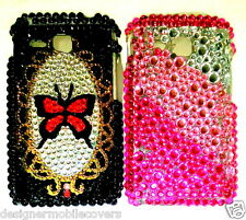 for samsung champ delux duos C3312 rex60  hard back case cover diamond stud new
