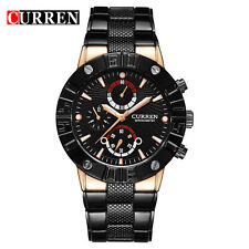 CURREN Brand Luxury Black Stainless Steel Band Business Casual Watch For Men