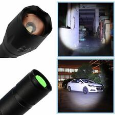 Police LED Flashlight Tactical 8000LM XML-T6 Zoomable Torch Lamp 5 Modes UK Sell