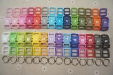28-10mm Cat Collar Hardware Cat Safety Buckle /& Triglides /& D rings