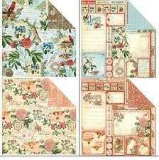 "Graphic45 Time To Flourish Double-Sided Cardstock 12X12"" doppelseit.Scrappapier1"