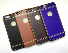 """Apple Iphone 6 4.7"""" Inch IMPORTED PREMIUM LEATHER FINISH SILICON BACK CASE COVER"""