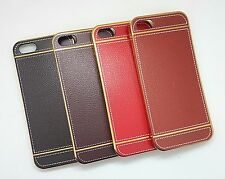 APPLE IPHONE 5G/5S IMPORTED PREMIUM LEATHER FINISH SILICON BACK CASE COVER