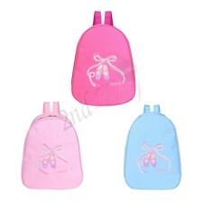 Toe Shoe Embroidered Ballet Dance Bag Backpack Rucksack Dancing Ballerina School