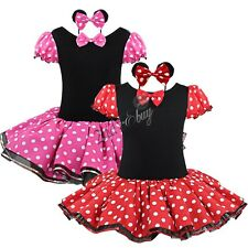 Kid Girl Minnie Mouse Costume Party Outfit Fancy Tutu Dress up Ballet Halloween