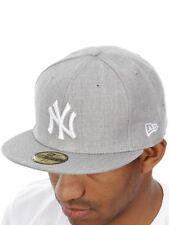 New Era Heather Grey League Basic 59Fifty New York Yankees Fitted Cap
