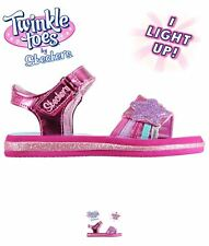 NEW Skechers Twinkle Toes Sunnies Child Girls Sandals Hot Pink/Multi