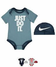 SALDI Nike Just Do It Two Piece Set Baby Boys Smokey Blue