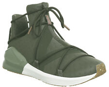 Womens Puma Fierce Rope Trainers OLIVE NIGHT WHITE VR Trainers Shoes