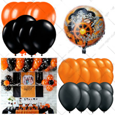 """10 - 100 latex balloons orange and black for Halloween helium or air 12"""" Baloons"""