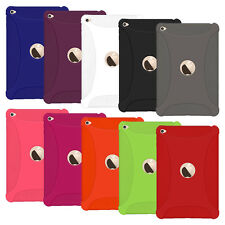 Amzer Silicone Skin Jelly Rubber Case Skin Fit Thin Cover for Apple iPad mini 4
