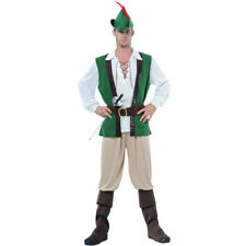 Adults Mens Medieval Robin Hood Deluxe Costume for Middle Dark Ages Fancy Dress