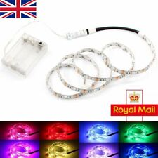 UK LED Strip Lights RGB + Battery Box + Controller Battery Powered Multi-color