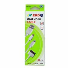 ERD 8 Pin Lightning USB Iphone 5 5c 5s, 6 6+, 7 Charging & Data Sync Cable