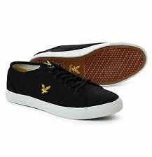 Lyle & Scott Eagle Canvas Teviot Twill Fashion Plimsolls Shoes Trainers Black