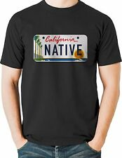 California Native T Shirt Beach License Plate Mens Sizes Small to 6XL and Tall