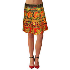 Beach Wear Women Sarong Free Size Cotton Printed Wrap Around Jaipuri Skirt