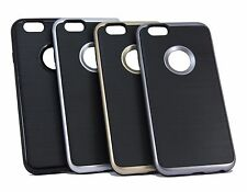 Brushed metal finish premium back case cover for Apple Iphone 6/6S, Iphone 7