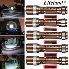 Elfeland 10000LM T6 LED Linterna Antorcha 5-Modos Zoomable Flashlight Torch