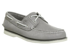 Mens Timberland New Boat Shoes GREY LEATHER Casual Shoes *Ex Display*