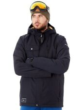 Quiksilver Black Mission Solid Snowboarding Jacket