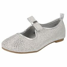 filles Spot On Silver Glitter Effet fête chaussures style H2306